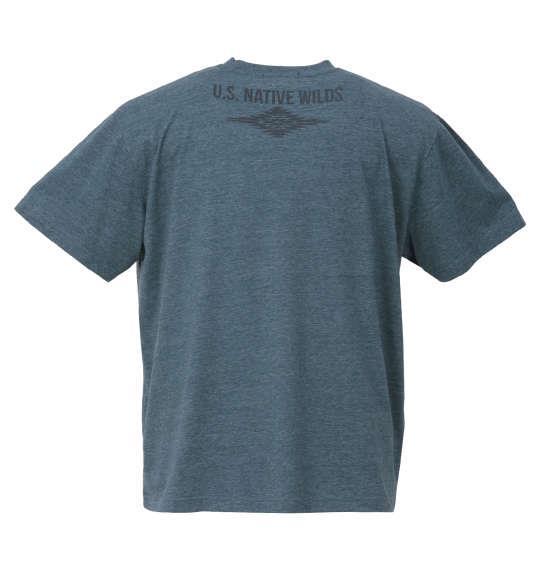 大きいサイズ メンズ PREPS 半袖 Tシャツ グリーン杢 1158-9582-2 3L 4L 5L 6L 8L