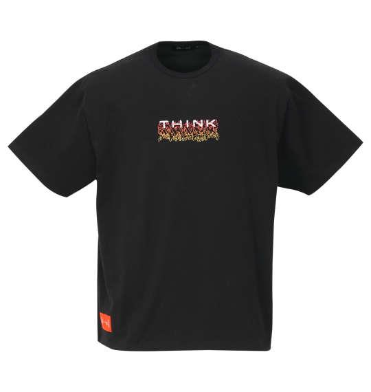 大きいサイズ メンズ 真紅 コニチワーな 半袖 Tシャツ ブラック 1168-9282-1 3L 4L 5L 6L