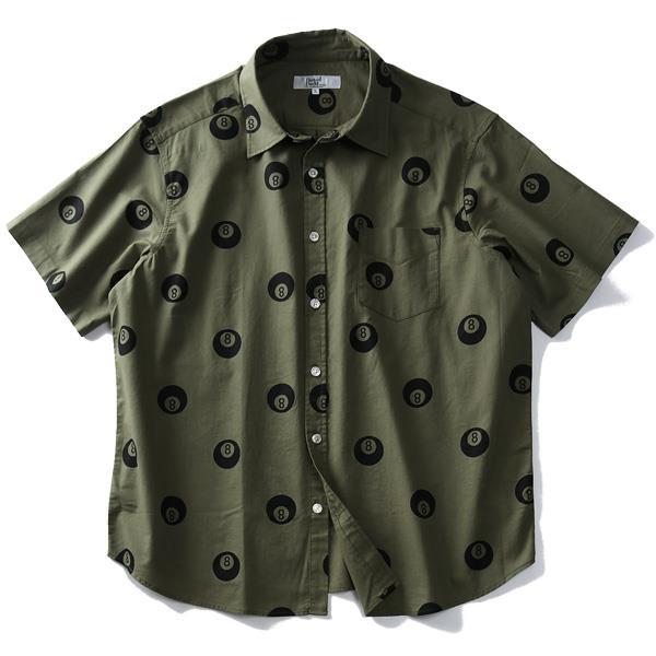 大きいサイズ メンズ DANIEL DODD 半袖 ライト キャンバス エイトボール柄 シャツ 916-190237