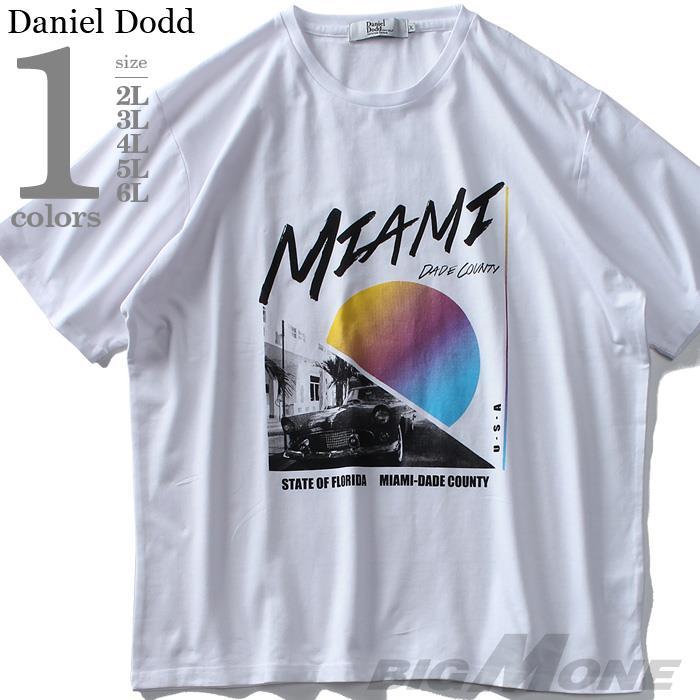 大きいサイズ メンズ DANIEL DODD ベア天 プリント 半袖 Tシャツ MIAMI azt-1902155