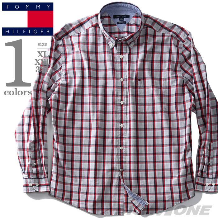 大きいサイズ メンズ TOMMY HILFIGER トミーヒルフィガー チェック柄 ボタンダウン シャツ USA直輸入 13h1860