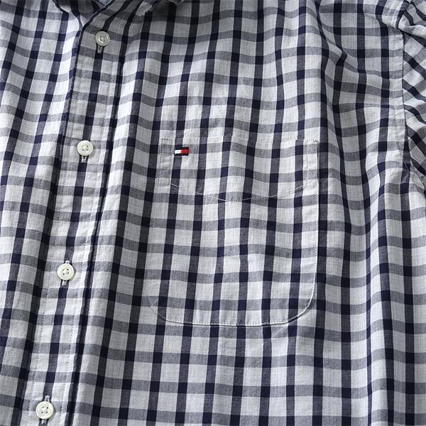 大きいサイズ メンズ TOMMY HILFIGER トミーヒルフィガー チェック柄 ボタンダウン シャツ USA直輸入 13h1865