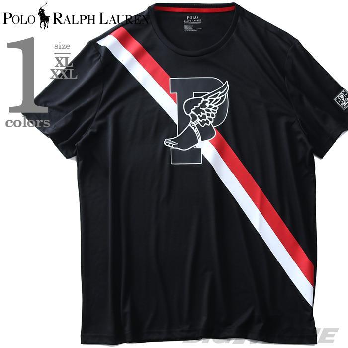 大きいサイズ メンズ POLO RALPH LAUREN ポロ ラルフローレン プリント 半袖 スポーツ Tシャツ USA直輸入 710737949