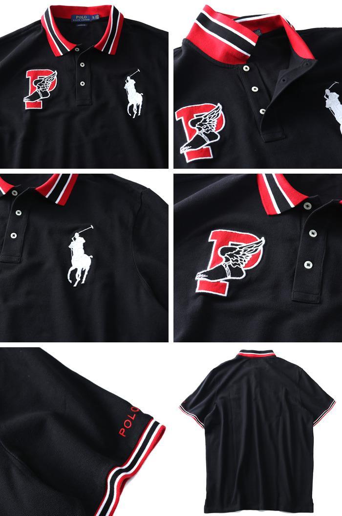 大きいサイズ メンズ POLO RALPH LAUREN ポロ ラルフローレン 刺繍入 ビッグポニー 鹿の子 半袖 ポロシャツ USA直輸入 710740444