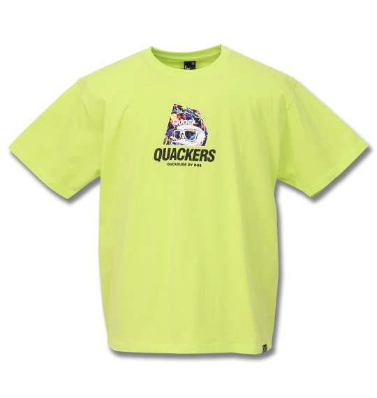 大きいサイズ メンズ b-one-soul DUCK DUDE バックアーチ 半袖 Tシャツ ライムグリーン 1158-9555-1 3L 4L 5L 6L
