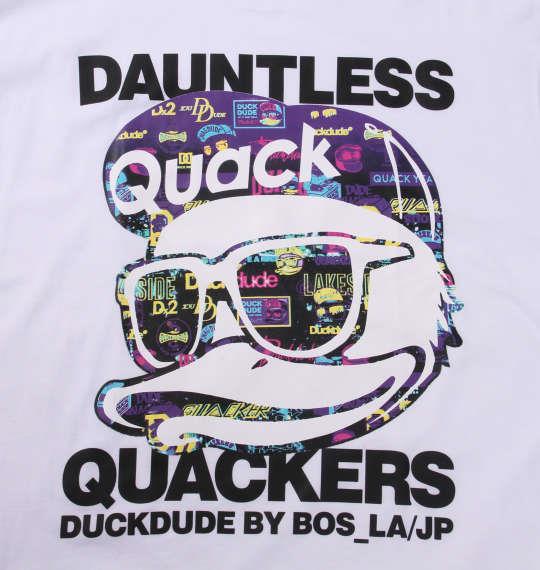 大きいサイズ メンズ b-one-soul DUCK DUDE ナイトシーン 半袖 Tシャツ ホワイト 1158-9556-1 3L 4L 5L 6L