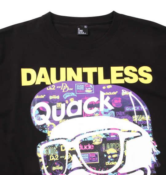 大きいサイズ メンズ b-one-soul DUCK DUDE ナイトシーン 半袖 Tシャツ ブラック 1158-9556-2 3L 4L 5L 6L