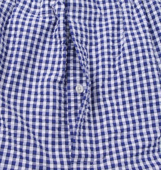 大きいサイズ メンズ marie claire homme DRY サッカー チェック 半袖 パジャマ ネイビー系 1159-9254-2 3L 4L 5L 6L 8L