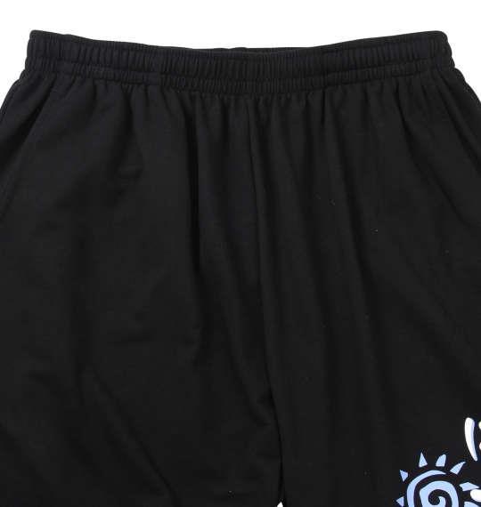 大きいサイズ メンズ NECOBUCHI-SAN ミニ 裏毛 ハーフパンツ ブラック 1154-9280-2 3L 4L 5L 6L