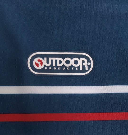 大きいサイズ メンズ OUTDOOR PRODUCTS DRY メッシュ パネル ボーダー 半袖 Tシャツ ネイビー 1158-9211-2 3L 4L 5L 6L 8L