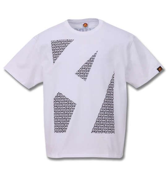 大きいサイズ メンズ 新日本プロレス 棚橋弘至 A 半袖 Tシャツ ホワイト×ブラック 1178-9203-1 3L 4L 5L 6L