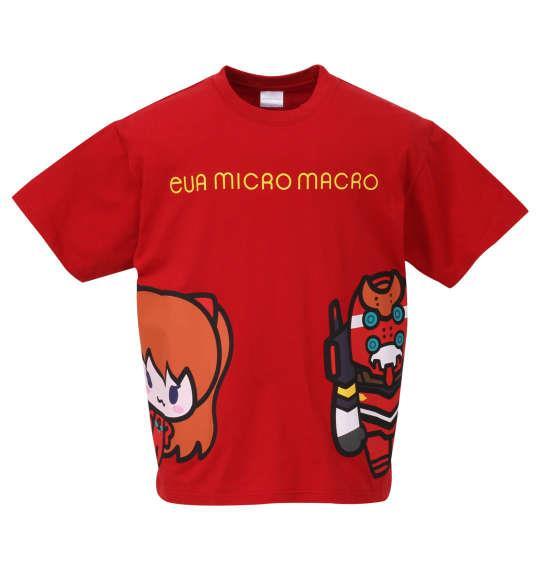 大きいサイズ メンズ EVA MICRO MACRO 半袖 Tシャツ レッド 1178-9213-1 3L 4L 5L 6L 8L