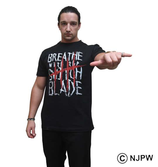 大きいサイズ メンズ 新日本プロレス ジェイ ホワイト BREATHE 半袖 Tシャツ ブラック 1178-9238-1 3L 4L 5L 6L 8L