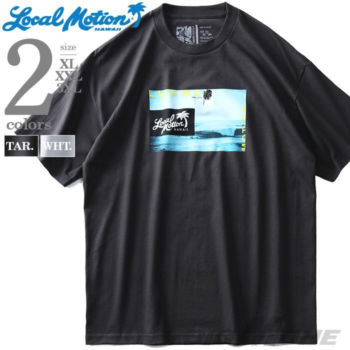 ブランドセール 大きいサイズ メンズ LOCAL MOTION ローカルモーション 半袖 プリント Tシャツ USA直輸入 smt16319