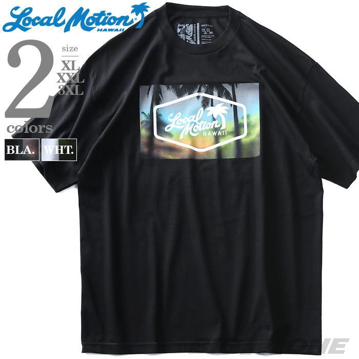 ブランドセール 大きいサイズ メンズ LOCAL MOTION ローカルモーション 半袖 プリント Tシャツ USA直輸入 smt16320