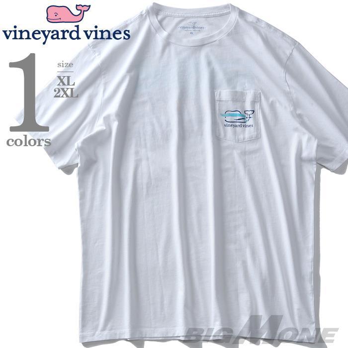 大きいサイズ メンズ Vineyard Vines ヴィニヤードヴァインズ ポケット付 半袖プリント Tシャツ USA直輸入 1v6200
