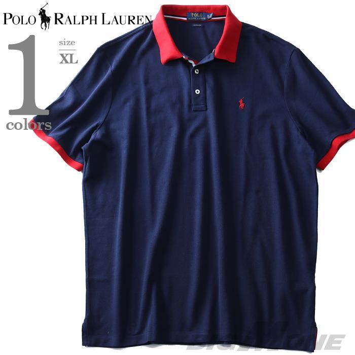大きいサイズ メンズ POLO RALPH LAUREN ポロ ラルフローレン ロゴ 鹿の子 半袖 ポロシャツ USA直輸入 710746772