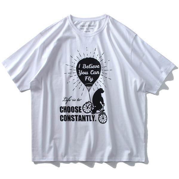 大きいサイズ メンズ DANIEL DODD オーガニック プリント 半袖 Tシャツ CHOOSE CONSTANTLY azt-190251