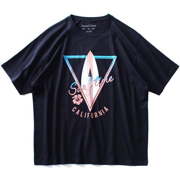 大きいサイズ メンズ DANIEL DODD オーガニック プリント 半袖 Tシャツ SURF TIME azt-190254