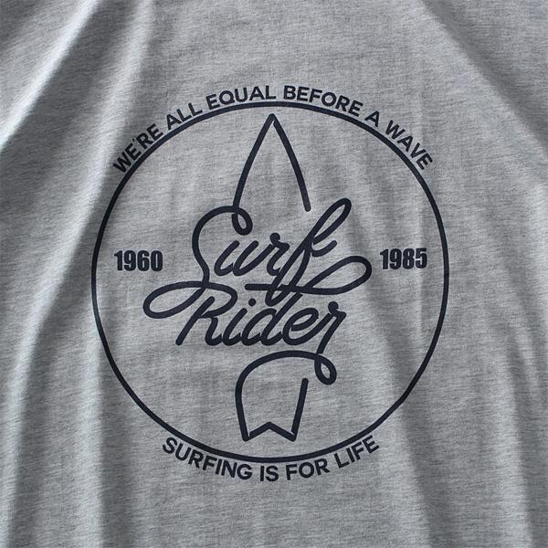 大きいサイズ メンズ DANIEL DODD オーガニック プリント 半袖 Tシャツ SURF RIDER azt-190255