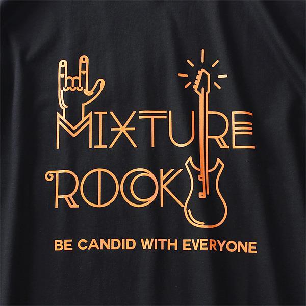 大きいサイズ メンズ DANIEL DODD オーガニック プリント 半袖 Tシャツ MIXTURE ROCK azt-190256
