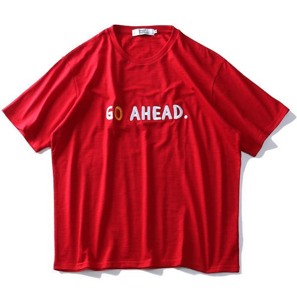 大きいサイズ メンズ DANIEL DODD スラブ 刺繍 半袖 Tシャツ GO AHEAD azt-1902138