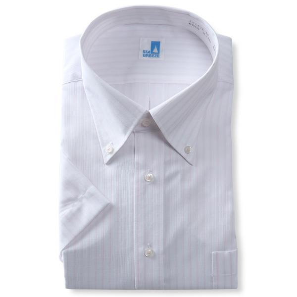2点目半額 大きいサイズ メンズ SEA BREEZE シーブリーズ 半袖 ワイシャツ ボタンダウン 形態安定 ehcb26-54