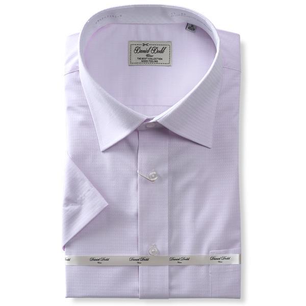 2点目半額 大きいサイズ メンズ DANIEL DODD 半袖 ワイシャツ レギュラー セミワイド 吸汗速乾 形態安定 d592az101