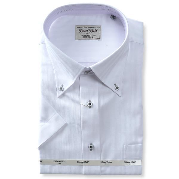 【pd0527】大きいサイズ メンズ DANIEL DODD 半袖 ワイシャツ ボタンダウン 吸汗速乾 形態安定 d592az102