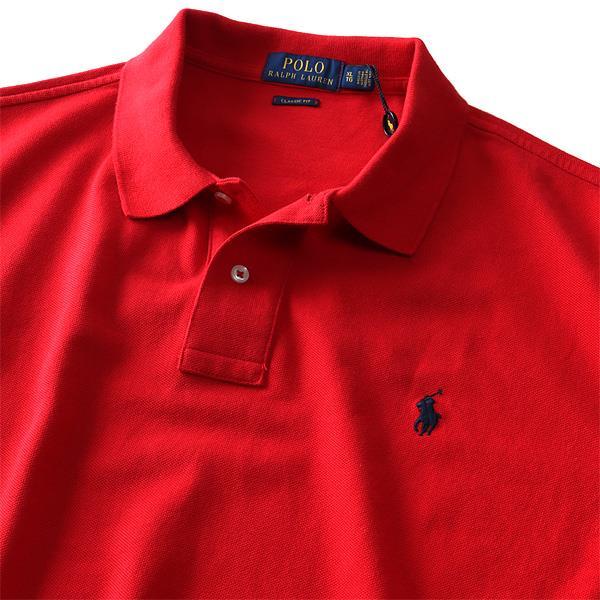 ブランドセール 大きいサイズ メンズ POLO RALPH LAUREN ポロ ラルフローレン ロゴ 鹿の子 半袖 ポロシャツ USA直輸入 710666997
