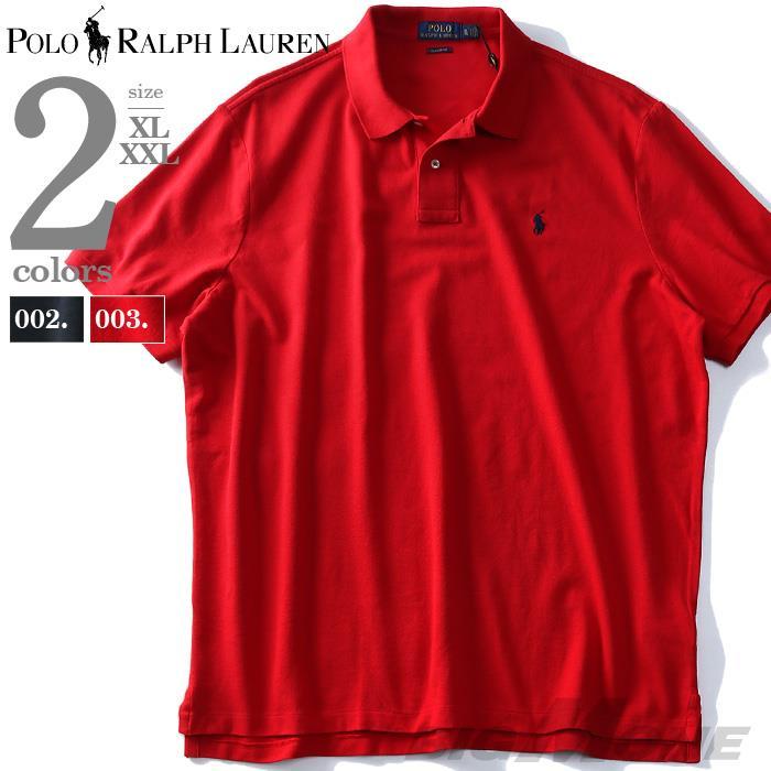 大きいサイズ メンズ POLO RALPH LAUREN ポロ ラルフローレン ロゴ 鹿の子 半袖 ポロシャツ USA直輸入 710666997