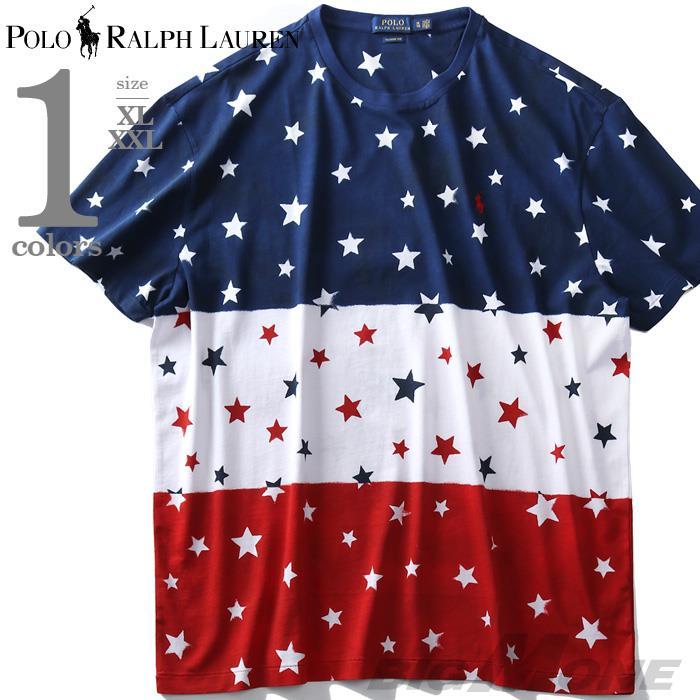 大きいサイズ メンズ POLO RALPH LAUREN ポロ ラルフローレン 総柄 半袖 Tシャツ USA直輸入 710743921