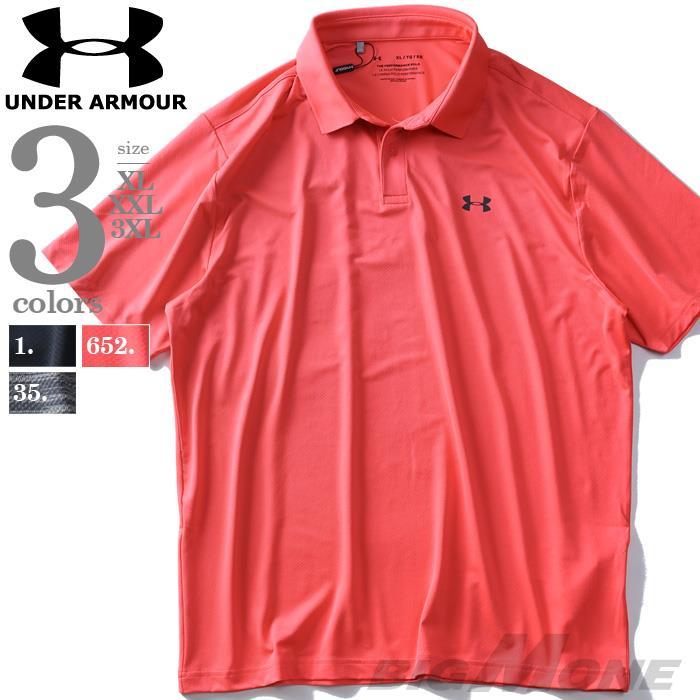 大きいサイズ メンズ UNDER ARMOUR アンダーアーマー 半袖 ゴルフ ポロシャツ Performance Polo USA直輸入 1342080