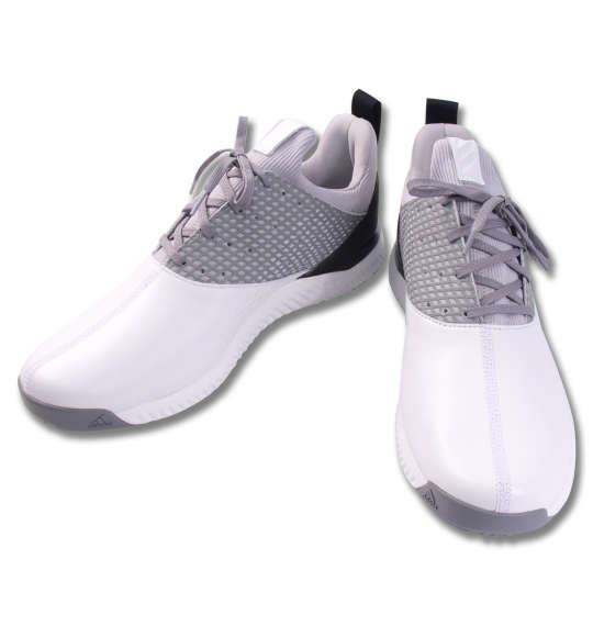 大きいサイズ メンズ adidas golf ゴルフ シューズ アディクロス バウンス2 ホワイト × シルバーメタリック 1140-9310-1 29 30 31