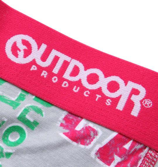 大きいサイズ メンズ OUTDOOR PRODUCTS グランジロゴ ボクサーパンツ グレー 1149-9300-1 3L 4L 5L 6L