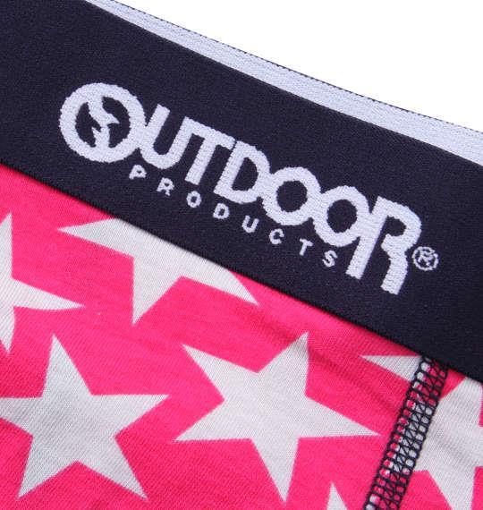 大きいサイズ メンズ OUTDOOR PRODUCTS スター ボクサーパンツ ピンク 1149-9301-1 3L 4L 5L 6L