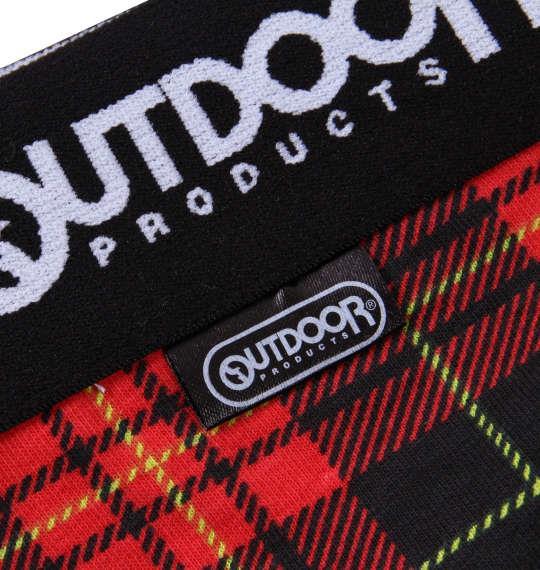 大きいサイズ メンズ OUTDOOR PRODUCTS タータンチェック ボクサーパンツ レッド 1149-9302-1 3L 4L 5L 6L