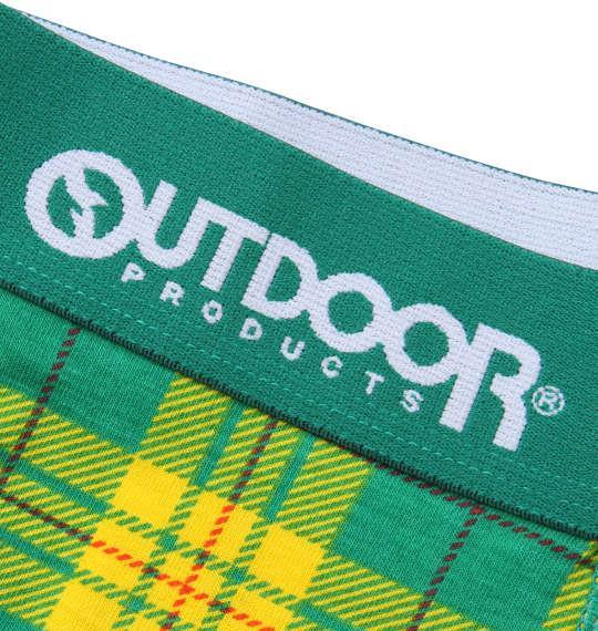 大きいサイズ メンズ OUTDOOR PRODUCTS タータンチェック ボクサーパンツ グリーン 1149-9302-2 3L 4L 5L 6L