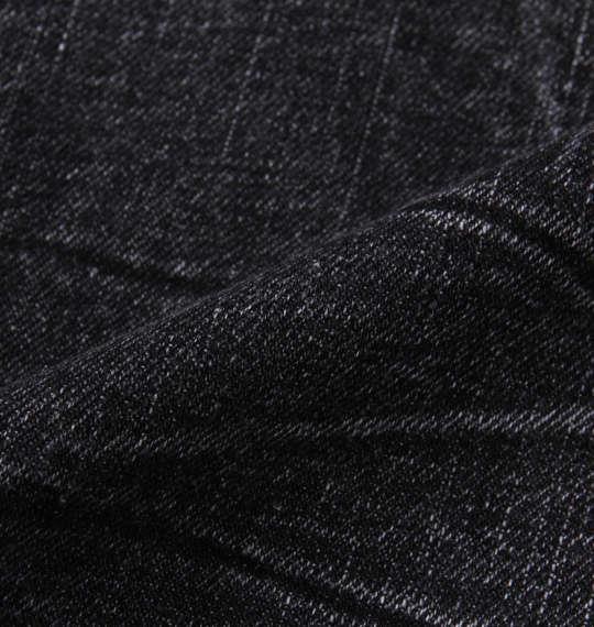 大きいサイズ メンズ RIMASTER Wジップ 合皮切替 デニムパンツ ブラック 1154-9370-2 100 110 120 130 140 150