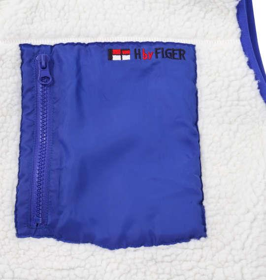 大きいサイズ メンズ H by FIGER ボア フリース ベスト オフホワイト 1163-9316-1 3L 4L 5L 6L 8L