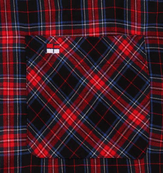 大きいサイズ メンズ H by FIGER チェック 長袖 B.D シャツ レッド × ブラック 1167-9313-1 3L 4L 5L 6L 8L