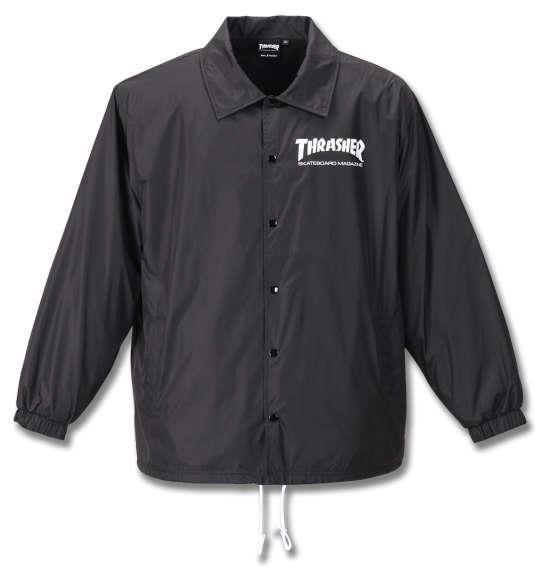 大きいサイズ メンズ THRASHER コーチ ジャケット ブラック 1173-9325-2 3L 4L 5L 6L 8L
