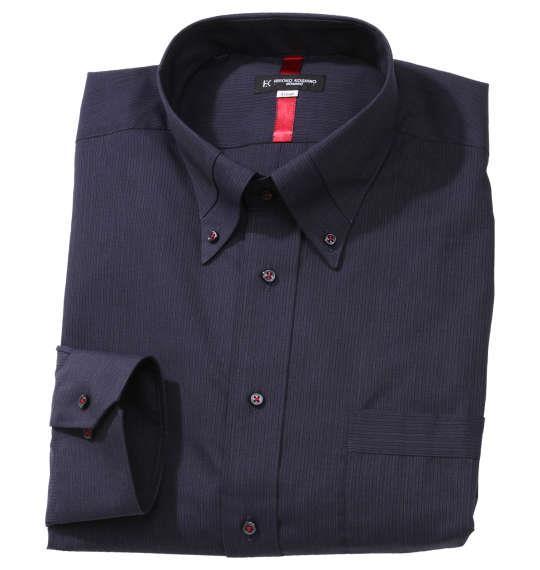 大きいサイズ メンズ HIROKO KOSHINO HOMME マイター B.D 長袖 シャツ ブラック 1177-9302-1 3L 4L 5L 6L 7L
