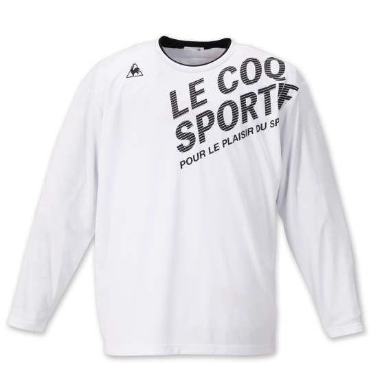 大きいサイズ メンズ LE COQ SPORTIF 長袖 Tシャツ ホワイト 1178-9300-1 2L 3L 4L 5L 6L