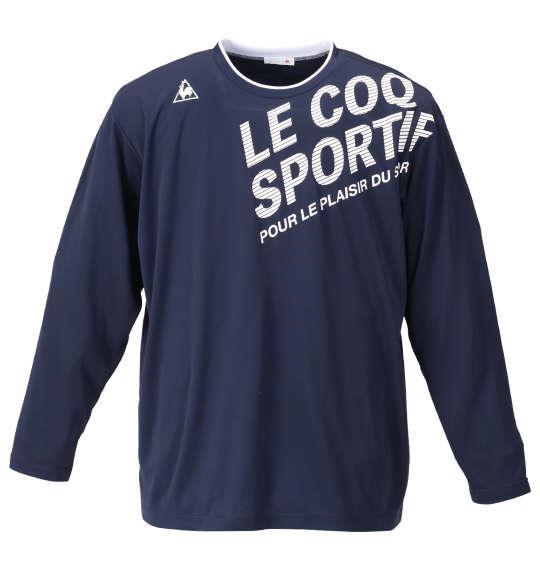 大きいサイズ メンズ LE COQ SPORTIF 長袖 Tシャツ ネイビー 1178-9300-2 2L 3L 4L 5L 6L