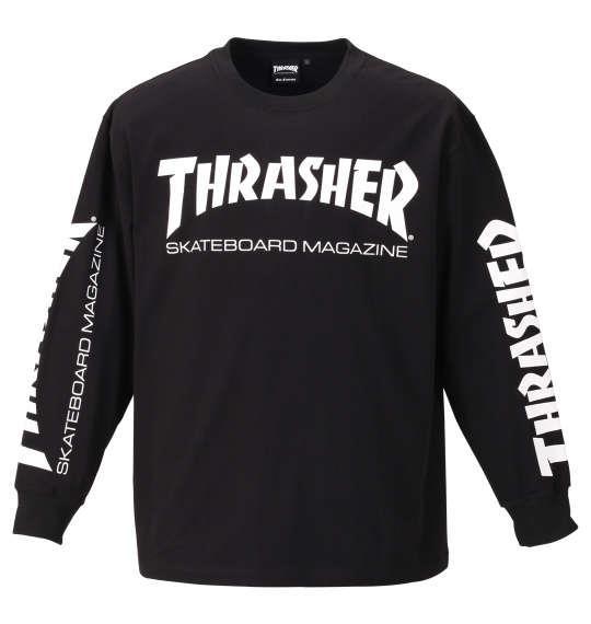 大きいサイズ メンズ THRASHER 長袖 Tシャツ ブラック 1178-9340-2 3L 4L 5L 6L 8L