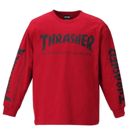 大きいサイズ メンズ THRASHER 長袖 Tシャツ レッド 1178-9340-4 3L 4L 5L 6L 8L