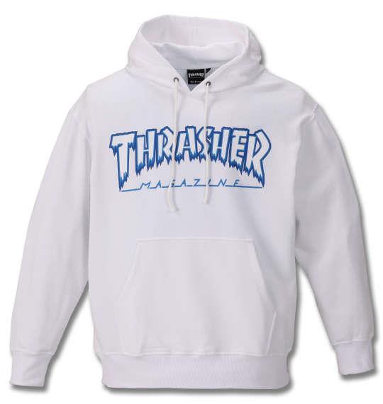 大きいサイズ メンズ THRASHER プルパーカー ホワイト 1178-9341-1 3L 4L 5L 6L 8L