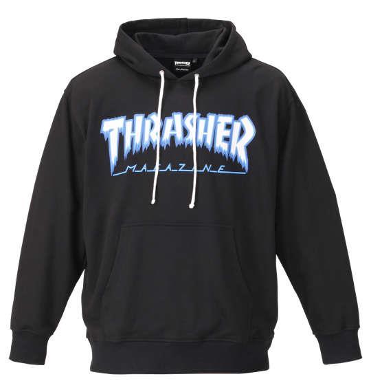大きいサイズ メンズ THRASHER プルパーカー ブラック 1178-9341-2 3L 4L 5L 6L 8L