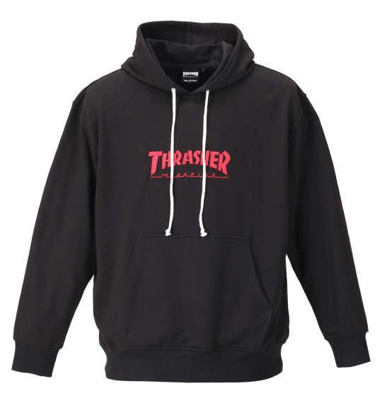 大きいサイズ メンズ THRASHER プルパーカー ブラック 1178-9342-2 3L 4L 5L 6L 8L